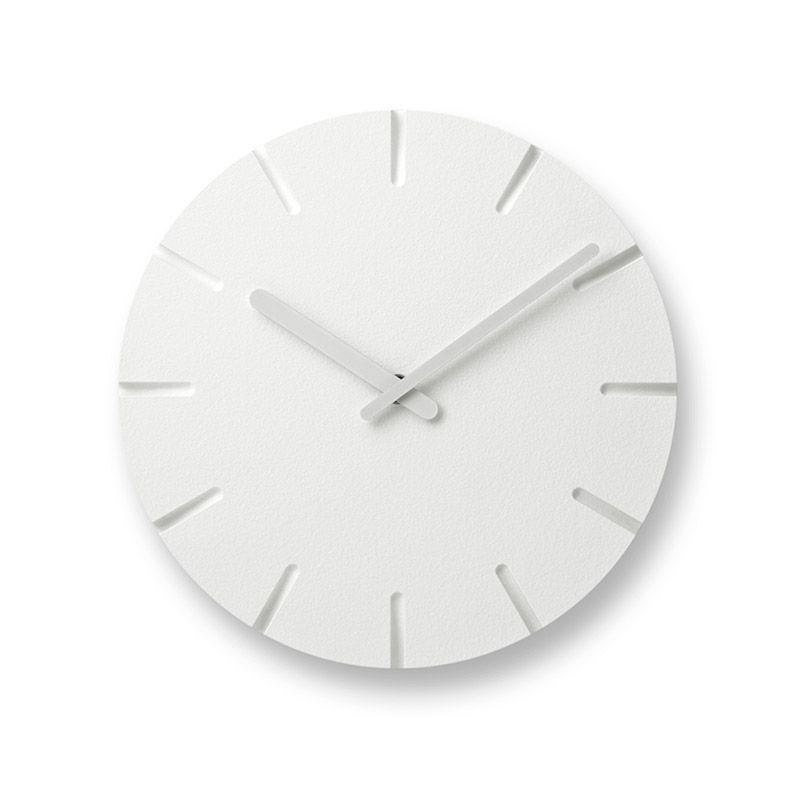 日本 Lemnos 雕刻時鐘 線條款 (小)