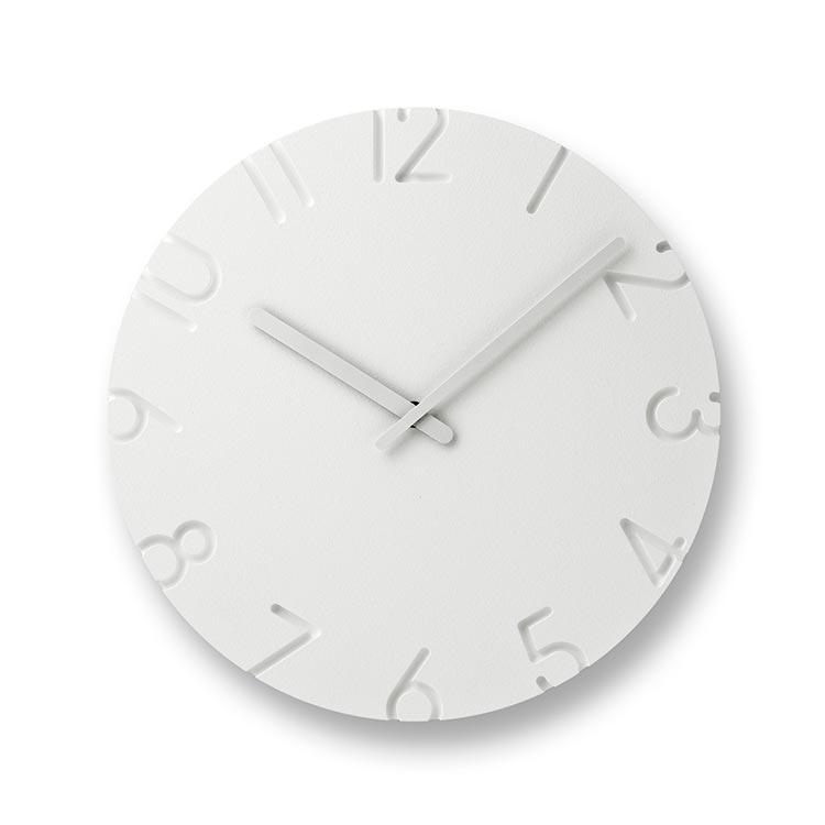 日本 Lemnos 雕刻時鐘 數字款 (大)