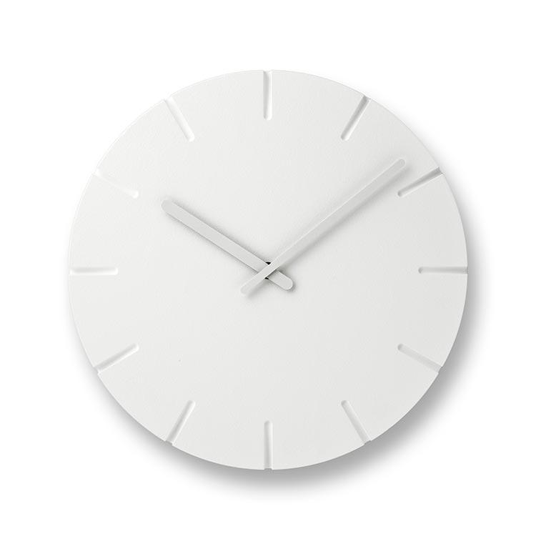 日本 Lemnos 雕刻時鐘 線條款 (大)