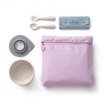 BONNSU_天然寶貝碗_旅行餐具组(粉袋米碗)1