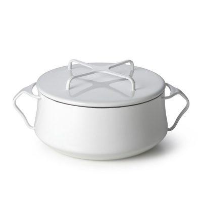 DANSK_珂本琺瑯雙耳湯鍋(奶油白)6L