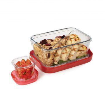 OXO_LockTop午餐盒兩件組(紅)