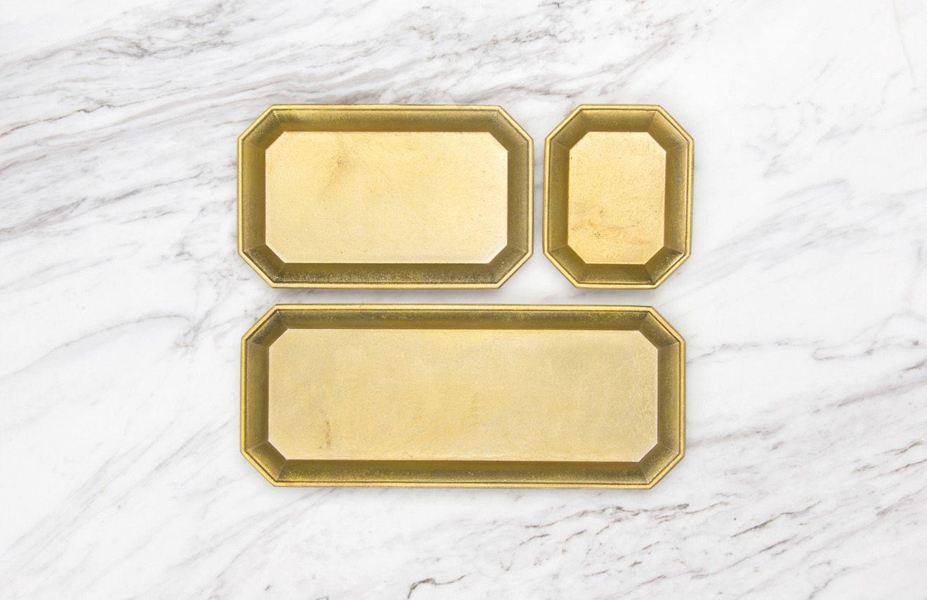 日本 FUTAGAMI 二上 銅鑄 置物盤 L
