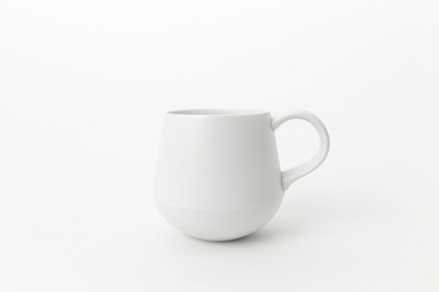 日本 KIHARA 白素磁釉 咖啡杯