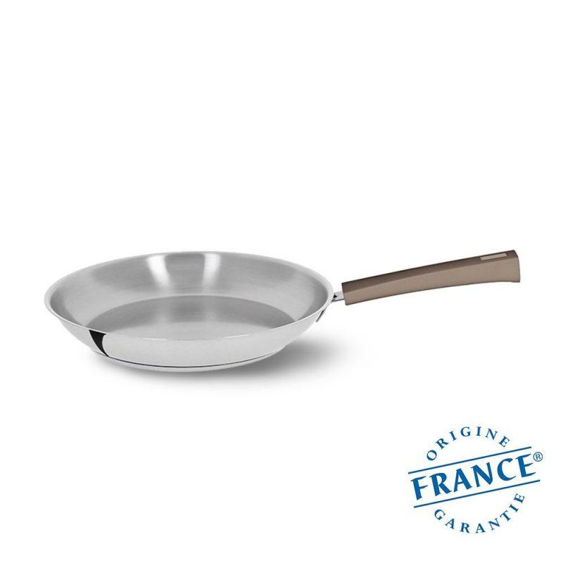 法國 CRISTEL Mutine 彩晶煎鍋 24cm 奶茶棕