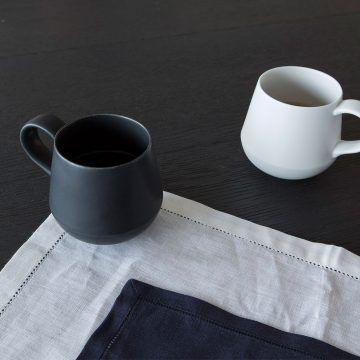 KIHARA_咖啡杯(藍白素磁釉)1