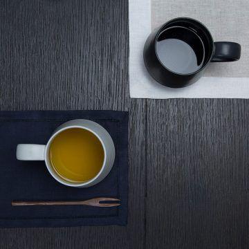 KIHARA_咖啡杯(藍白素磁釉)2