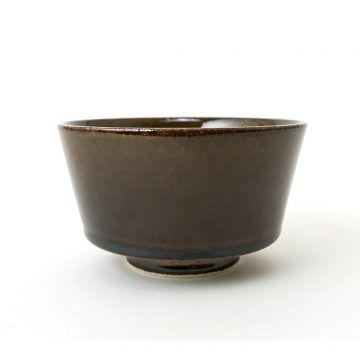 日本 KIHARA 有田燒 陶碗 黑唐津