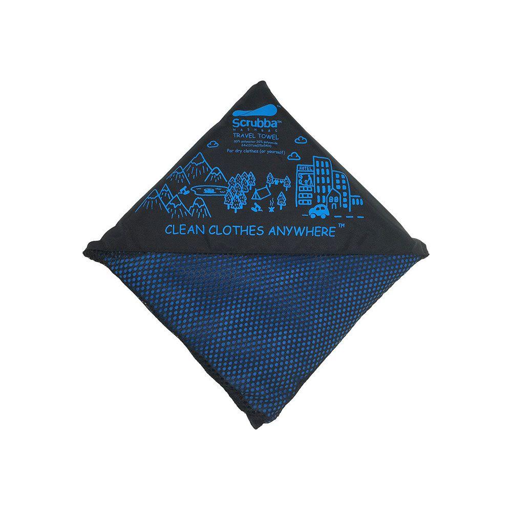 澳洲 Scrubba 攜帶式擰快乾毛巾 (藍)