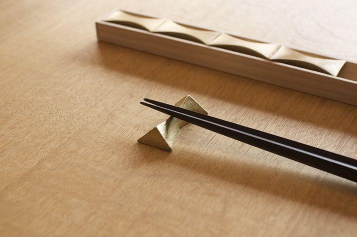 日本 FUTAGAMI 二上 銅鑄筷架 閃光 SENKOU 2入