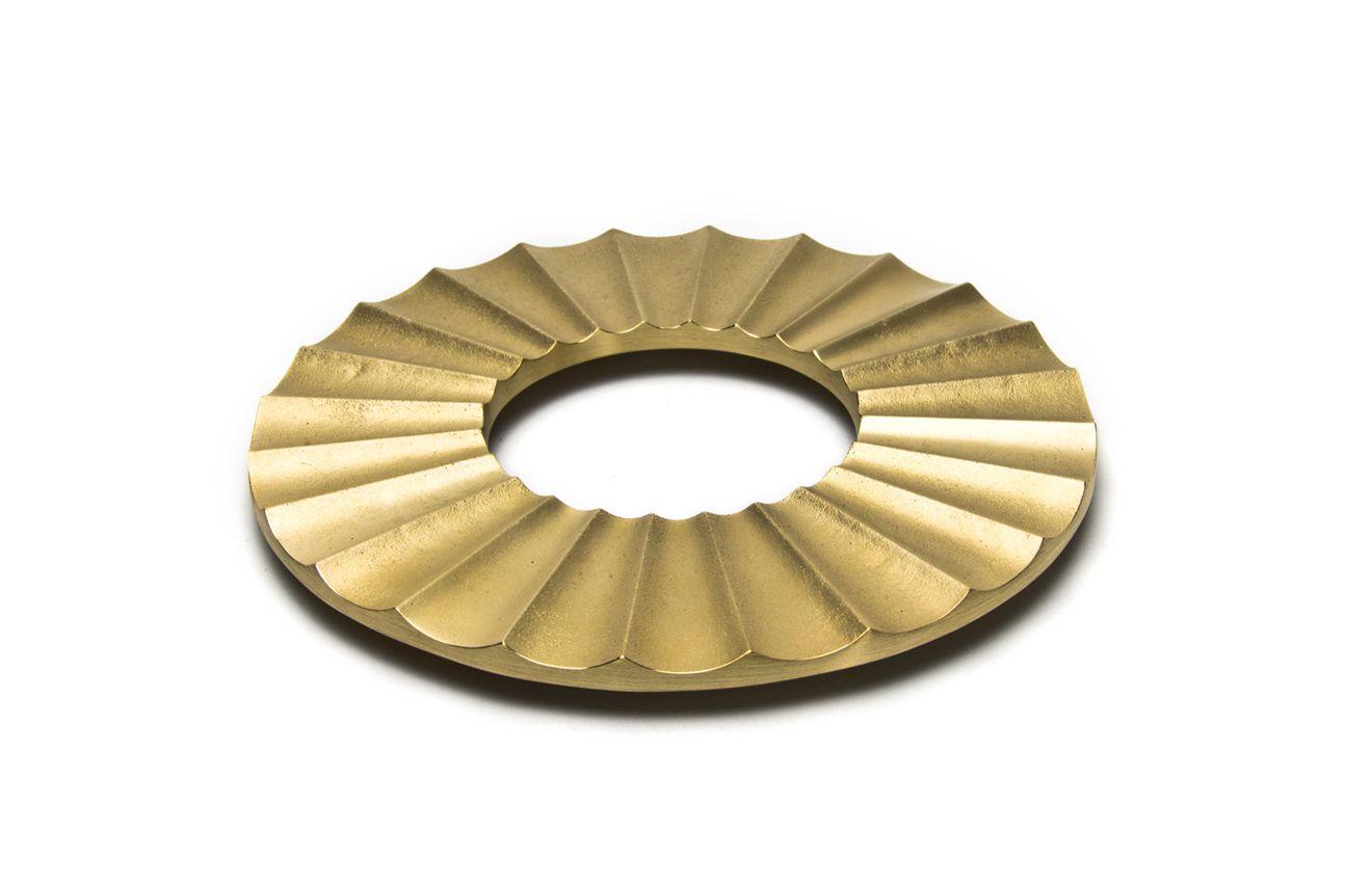 日本 FUTAGAMI 二上 銅鑄鍋墊 太陽 TAIYO Brass Trivet