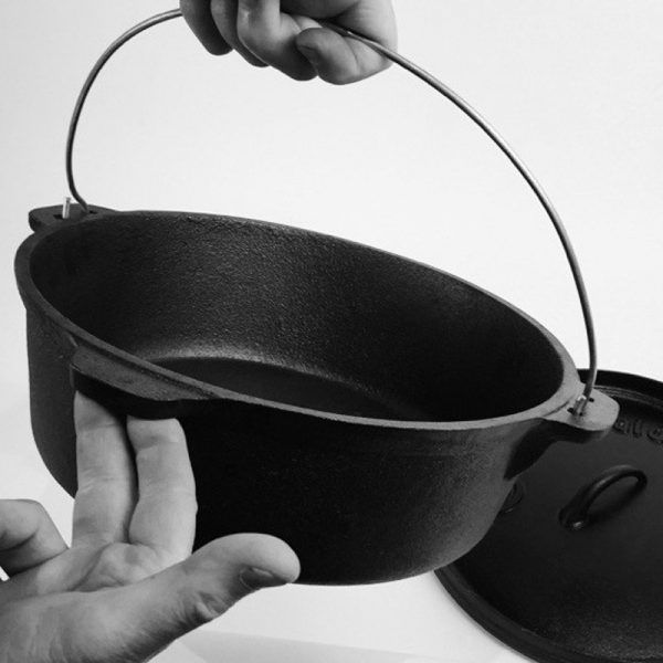 美國 CampMaid 10吋 無腳荷蘭鍋 / 鑄鐵鍋