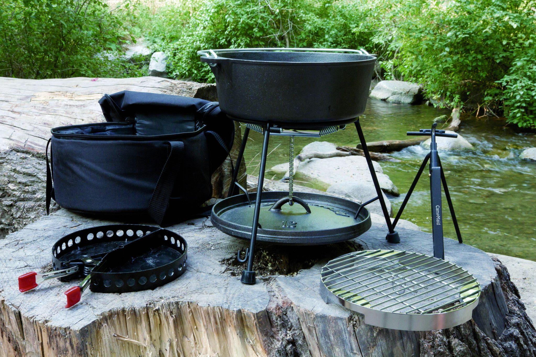 美國 CampMaid 12吋 無腳荷蘭鍋 / 鑄鐵鍋