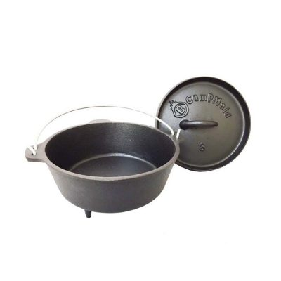 美國 CampMaid 8吋 有腳荷蘭鍋 / 鑄鐵鍋
