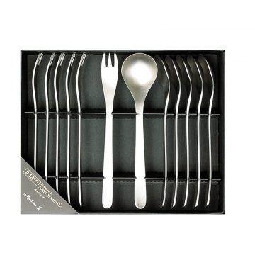 L不鏽鋼刀叉禮盒-12入6小叉,6茶匙