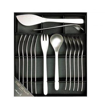 L不鏽鋼刀叉禮盒-14入-6叉,6匙,1糖匙,1奶油刀