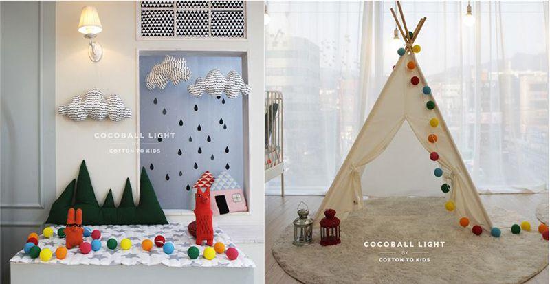 韓國 Cocoball LED 氣氛棉球燈串 Lollipop