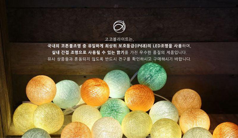 韓國 Mini Cocoball LED 氣氛棉球燈串 Mint