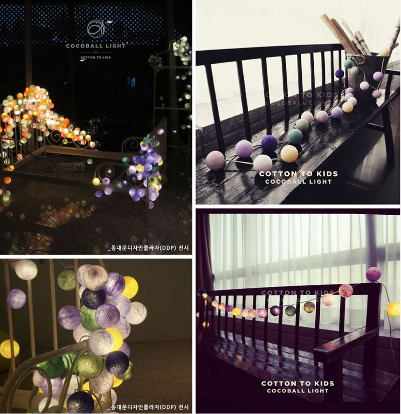 韓國 Cocoball LED 氣氛棉球燈串 Lavender