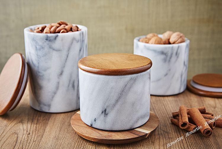 JEmarble 天然大理石密封罐 / 保鮮儲物罐 (三種尺寸)