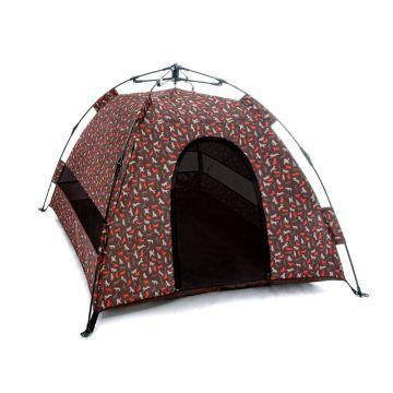 @露營野趣-寵物專用帳篷-摩卡棕