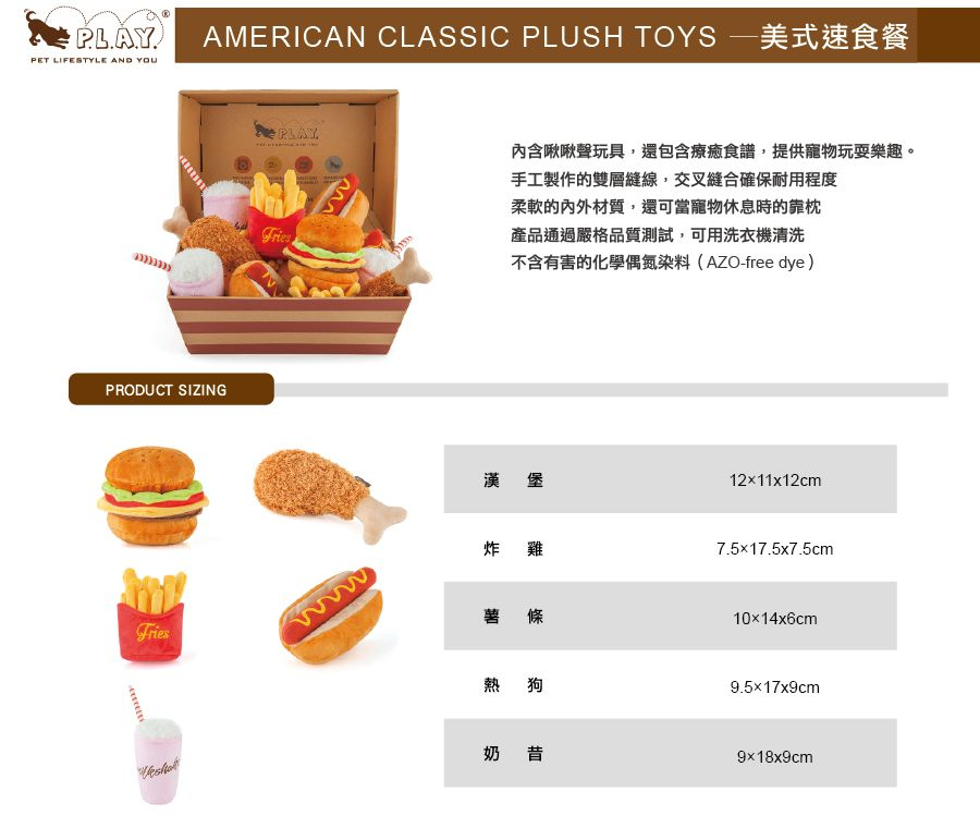 美國 P.L.A.Y. 玩具系列 美式速食