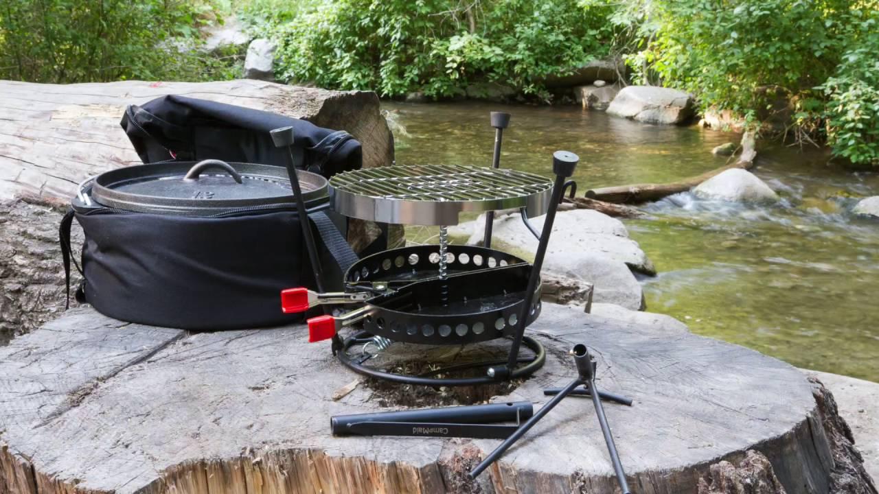 【美國 CampMaid 瘋露營限定組】鑄鐵鍋六合一豪華組+環保椰子碳