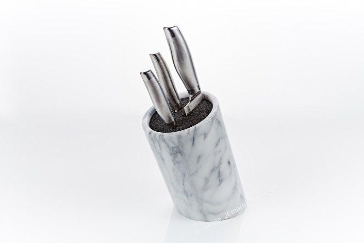 JEmarble 天然大理石斜桶刀座 / 刀架 / 刀具座 (黑色)