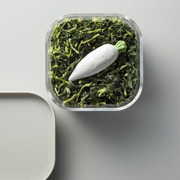 日本 KARARI 造型珪藻土防潮乾燥塊 白蘿蔔