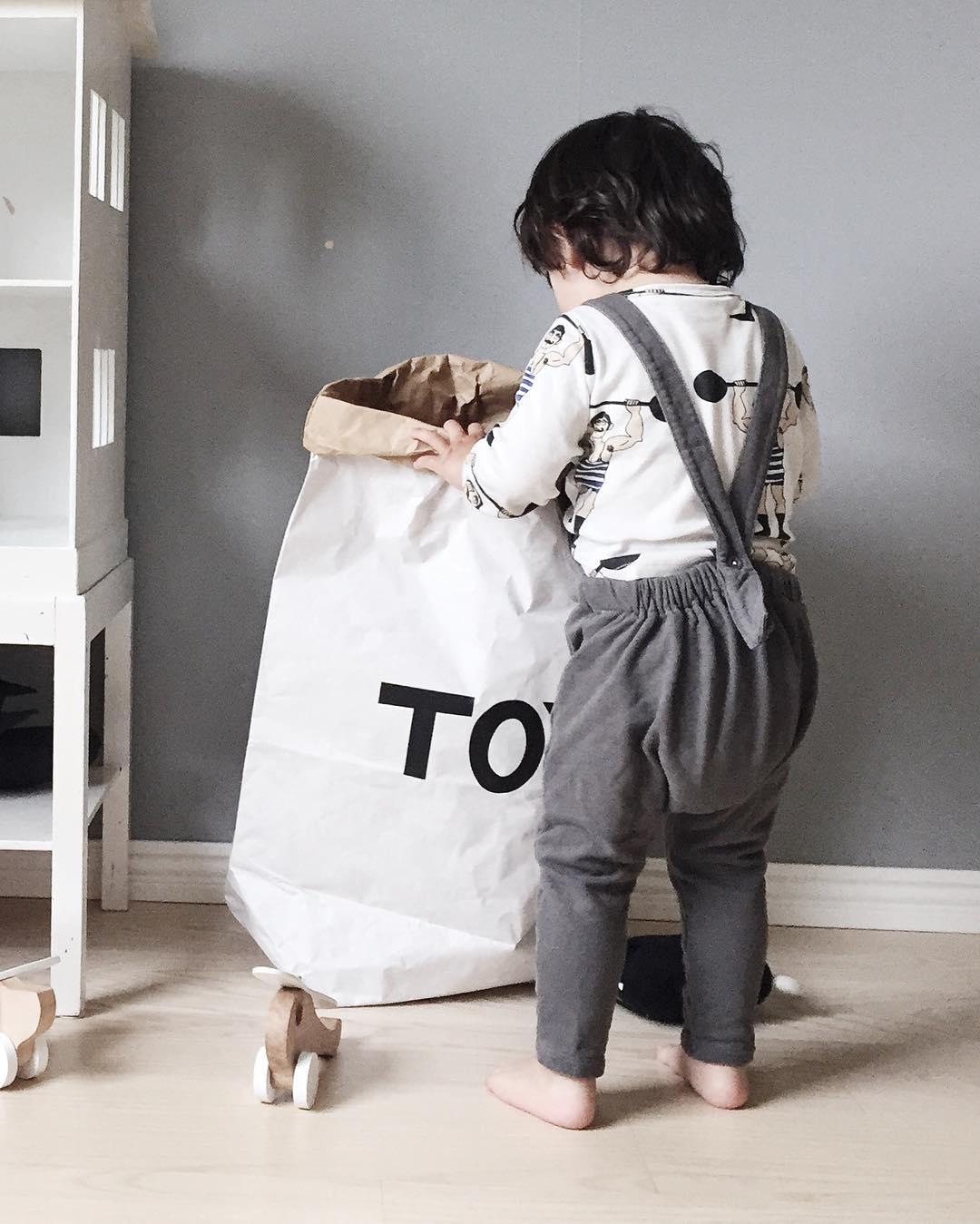 Tellkiddo 瑞典可愛圖案牛皮紙收納袋 Toys1