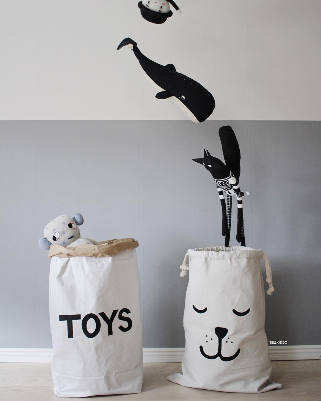 Tellkiddo 瑞典可愛圖案牛皮紙收納袋 Toys2