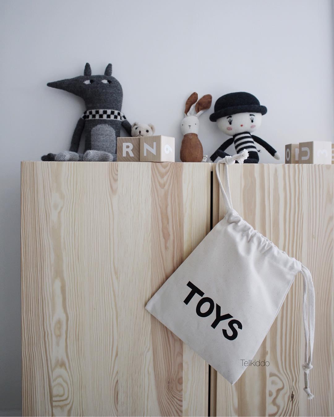 Tellkiddo 瑞典可愛圖案帆布收納袋 Toys (小)1