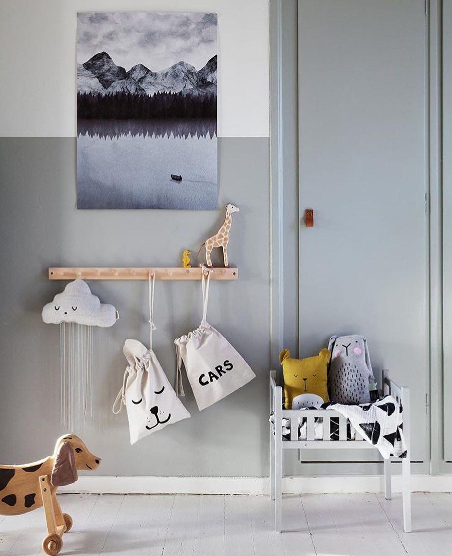 Tellkiddo 瑞典可愛圖案帆布收納袋 小兔兔1