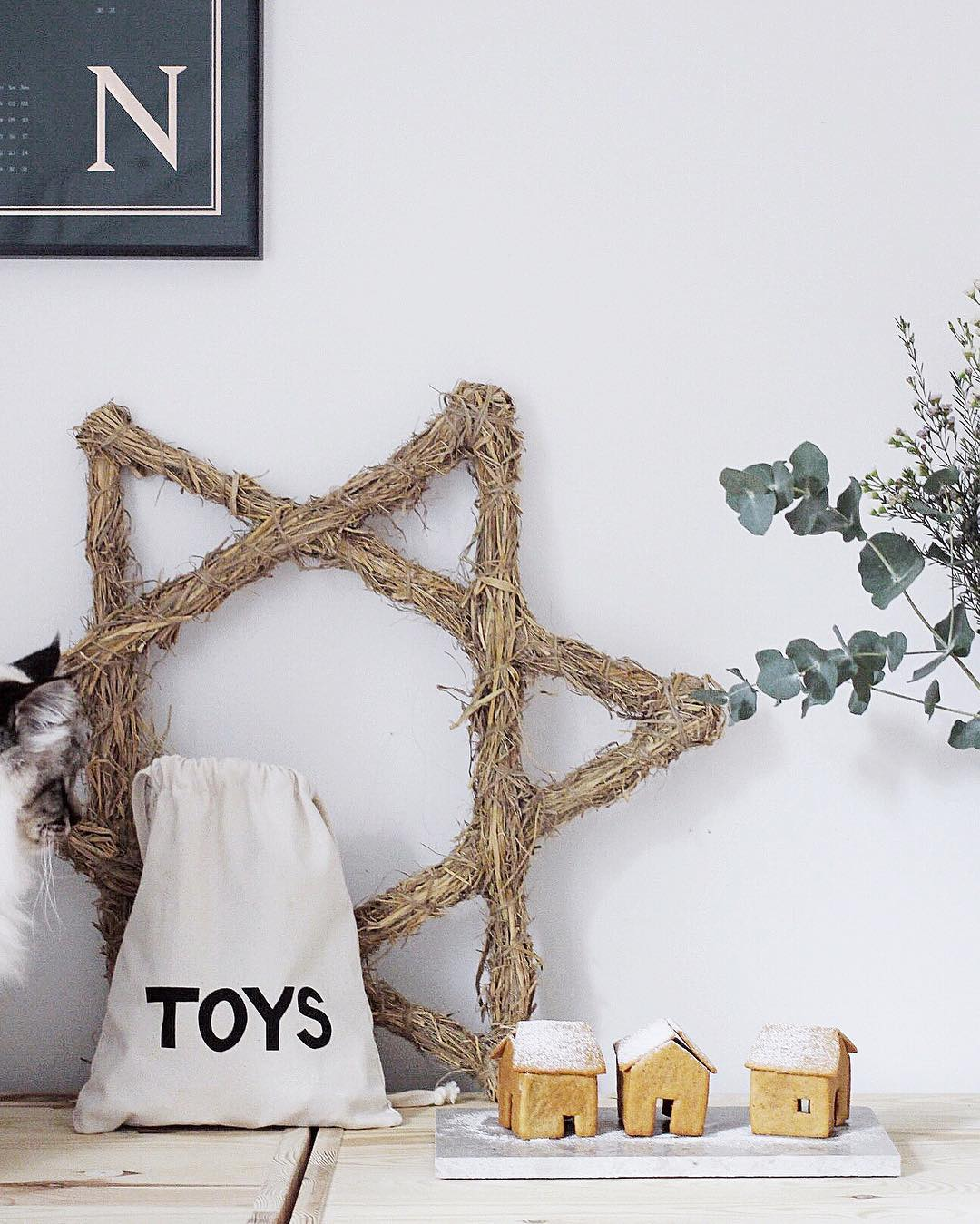 Tellkiddo 瑞典可愛圖案帆布收納袋 Toys (小)