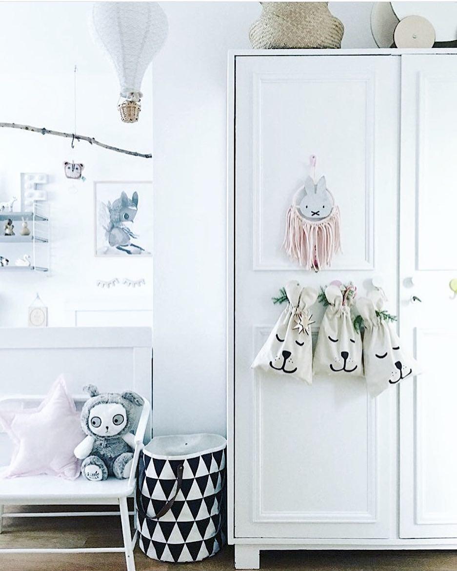Tellkiddo 瑞典可愛圖案帆布收納袋 小兔兔