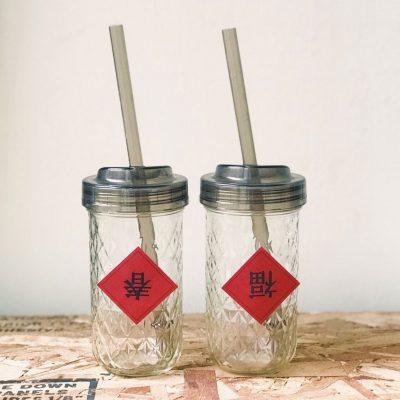 Ball梅森罐-窄口吸管杯蓋 12oz菱格組合-3