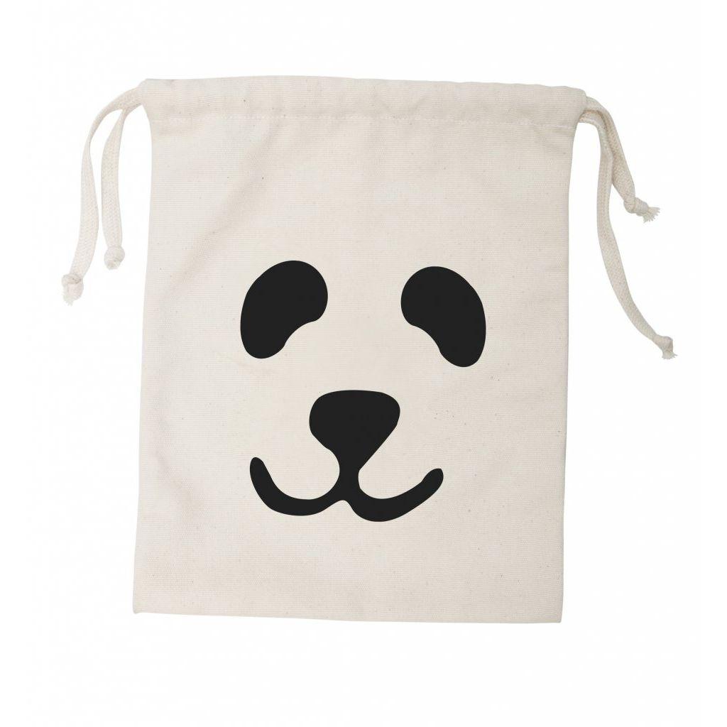 Tellkiddo 瑞典可愛圖案帆布收納袋 熊貓 (小)