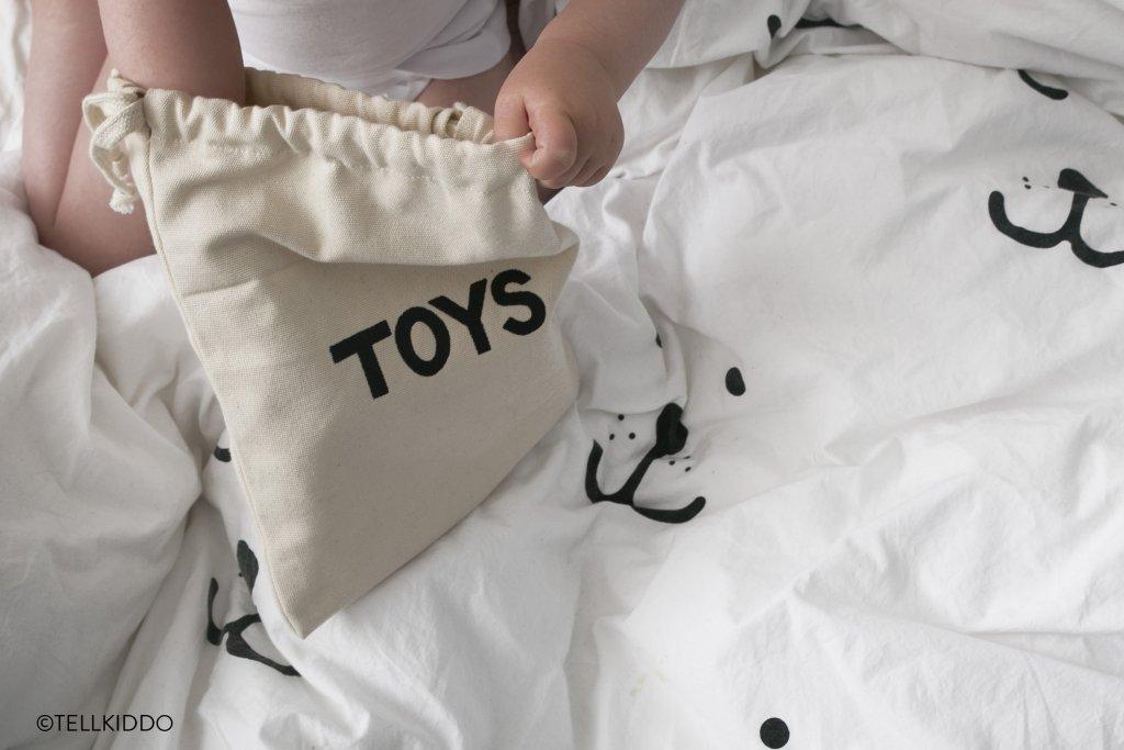 Tellkiddo 瑞典可愛圖案帆布收納袋 Toys (小)4