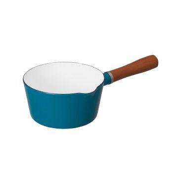 CBJ_北歐系列_琺瑯原木單柄牛奶鍋(土耳其藍)