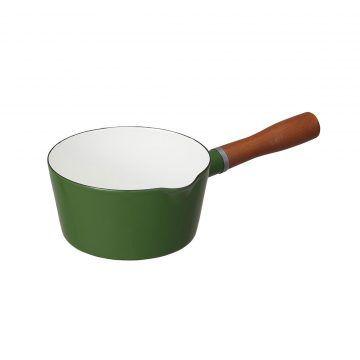 CBJ_北歐系列_琺瑯原木單柄牛奶鍋(森林綠)