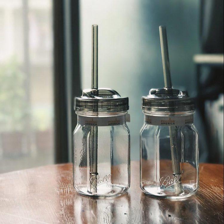 梅森罐 窄口吸管杯蓋組4