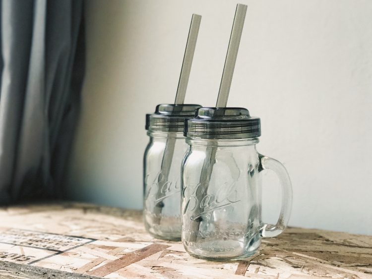 梅森罐 窄口吸管杯蓋組3