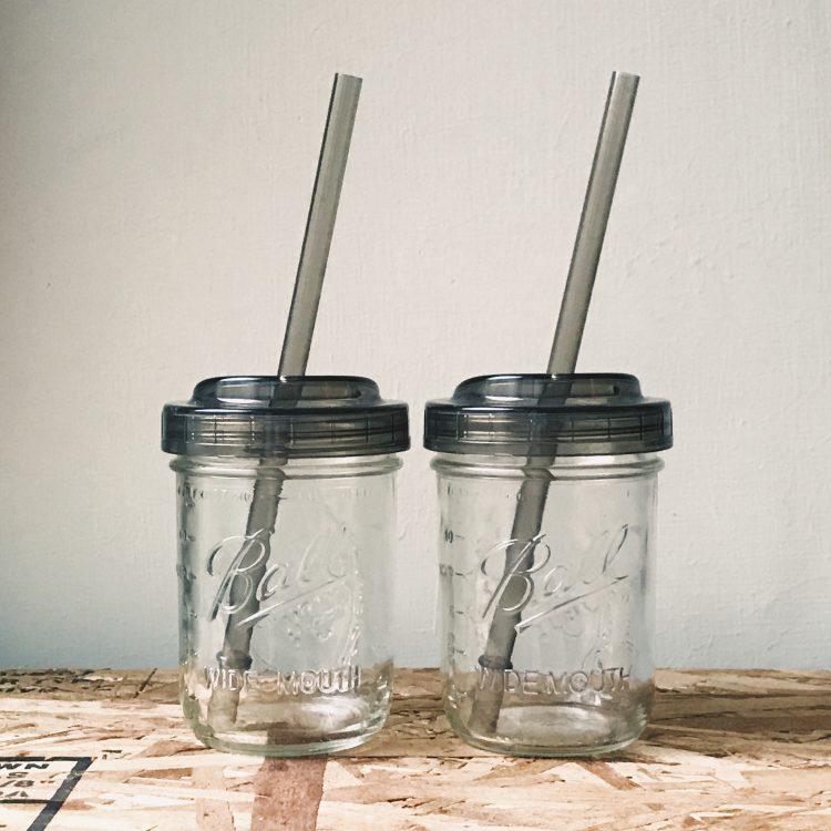梅森罐 寬口吸管杯蓋組3