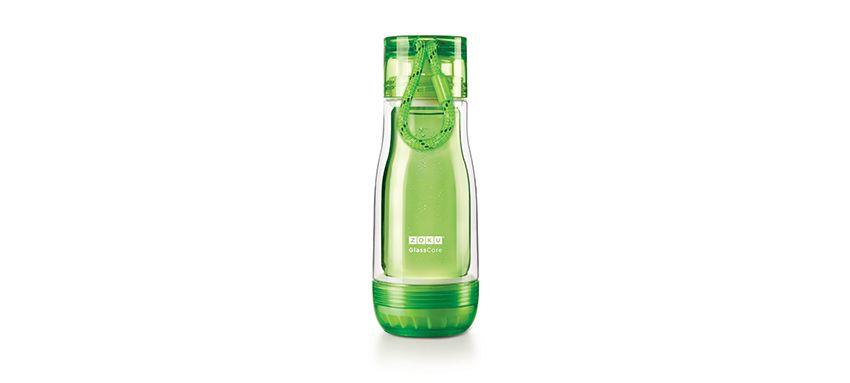 美國 ZOKU 繽紛玻璃雙層隨身瓶 355ml (綠)