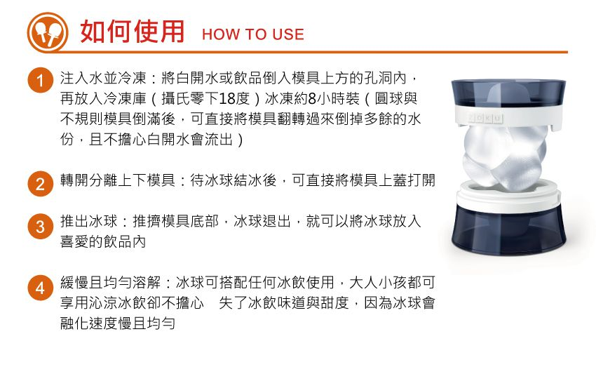 美國 ZOKU 製冰球模具 (3顆裝)