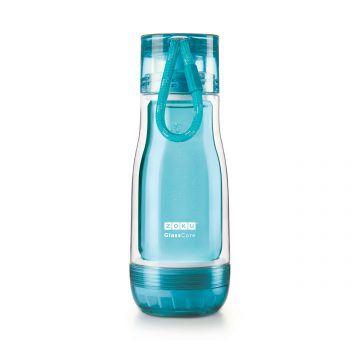 ZOKU繽紛玻璃雙層隨身瓶(355ml)_淺藍色