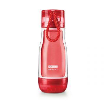 ZOKU繽紛玻璃雙層隨身瓶(355ml)_紅色