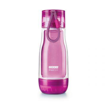 ZOKU繽紛玻璃雙層隨身瓶(355ml)_紫色