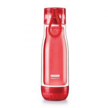 ZOKU繽紛玻璃雙層隨身瓶(475ml)_紅色