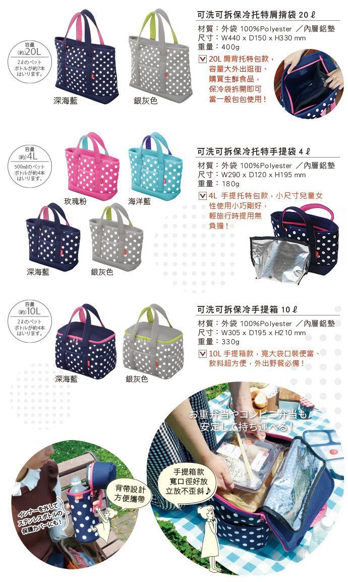 CB Japan 水玉點點系列可洗可拆保冷托特肩揹袋